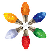 C7 LED Faceted Twinkle Color Options
