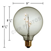 5W G40 E-27 BASE WARM WHITE LED BITSY BULB