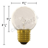 15 watt G16.5 Replacement Bulb