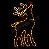 RUDOLPH THE RED-NOSED REINDEER ROPE LIGHT MOTIF SILHOUETTE DISPLAY - 100MODEER