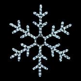 "25"" LED SNOWFLAKE ROPE LIGHT MOTIF SILHOUETTE DISPLAY - 100MOLS707"