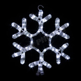 "12"" LED SNOWFLAKE ROPE LIGHT MOTIF SILHOUETTE DISPLAY - 100MOLS705"