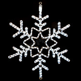 "28"" LED SNOWFLAKE ROPE LIGHT MOTIF SILHOUETTE DISPLAY - 100MOLS47"