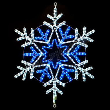 31 Quot Blue Amp White Led Rope Light Snowflake Motif Silhouette