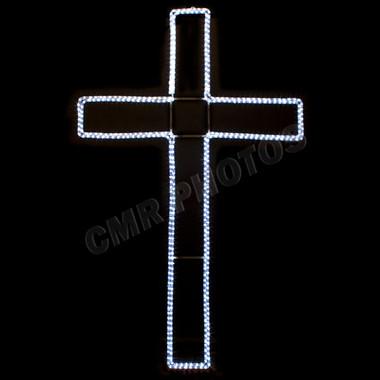 6' LED CROSS ROPE LIGHT MOTIF SILHOUETTE DISPLAY - 100MOLCROSS-6