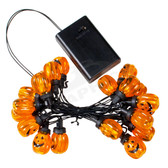LED Pumpkin Battery Powered Mini Light Set  - 102BLPUMPKIN
