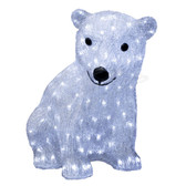 3-D Acrylic LED Sitting Bear - 100AMO1060 - Front View