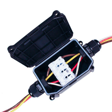 Large Wiring Junction Box - shown with wire(not included)