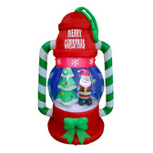 Santa lantern with Christmas Tree Inflatable Display