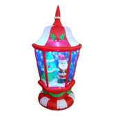 Santa and Tree inside Lantern - 6ft Tall Inflatable