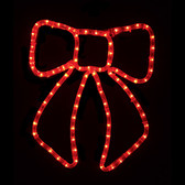 Red LED Bow Window Display