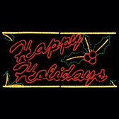 4' x 8' Happy Holidays Silouette Motif yard Display