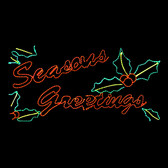 LED Seasons Greetings Silhouette Motif Yard Display