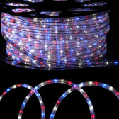 "1/2"" LED Rope Light - Red White Blue"