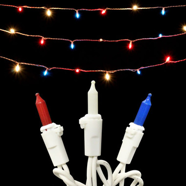 50L Red / White / Blue Mini Light Set