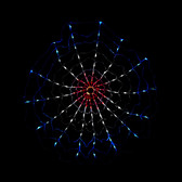 Red White Blue LED Chasing Motion Web Light String