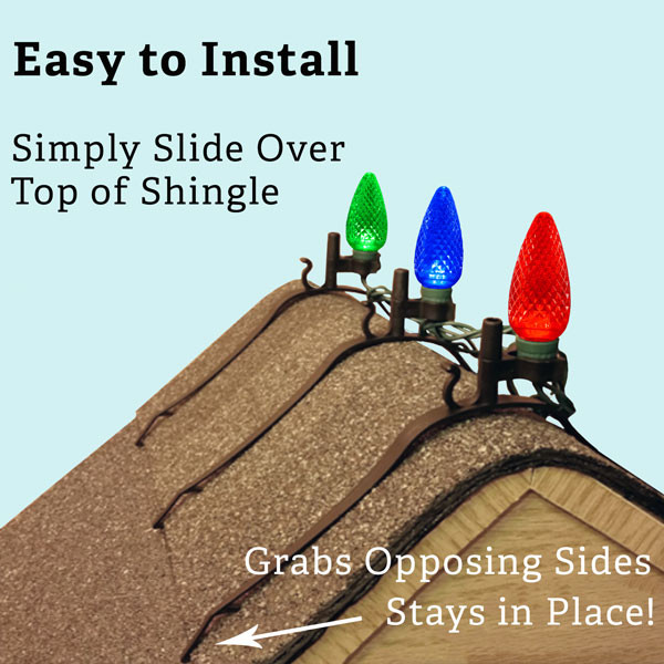 Shingle Christmas Light Clips