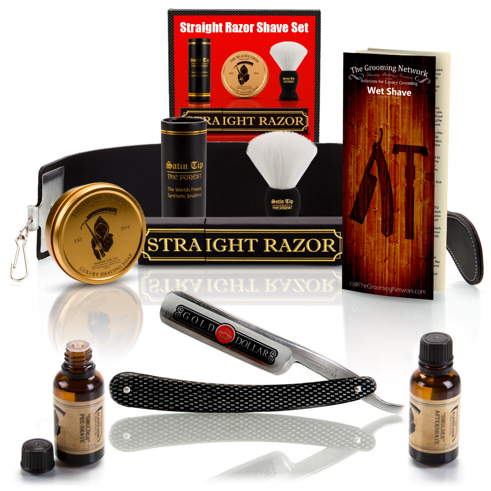 10 Piece Beginner Straight Razor Shaving Set