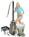 COMPLETE KIT 13 Gallon Milk Can with 3 inch Torpedo Reflux tower *** The propane patio stove is shipped separately ***
