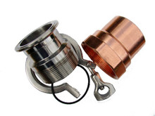 "2"" copper pipe to keg kit"