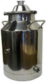 8 gallon Heavy Duty Milk Can with Dome lid and NPT fittings