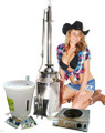 "Premium 8 Gallon Milk Can moonshine Still Complete Kit with new 2"" dual purpose tower"