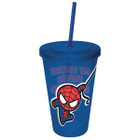 Marvel Kawaii Spider-man Colored Cup w/ Straw
