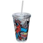 Marvel Spider-Man Comic Strip Cup w/ Straw