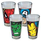 Marvel Close Up Glass 4 Pack