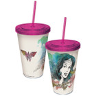 DC Comics Wonder Woman Watercolor Sketch Cup w/ Straw