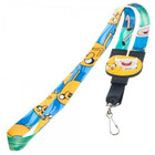 Adventure Time Finn and Jake Reversible Lanyard and Charm