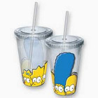 Simpsons Family Faces Cup With Straw
