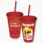 Simpsons Homer My Brain Colored Cup With Straw