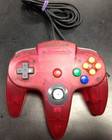 Nintendo 64 OEM Controller Watermelon Red - Used (Good Condition)