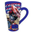 MARVEL CAPTAIN AMERICA FLUTED COFFEE MUG