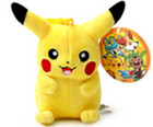 "Pokemon Pikachu 4"" Plush Keychain"