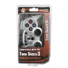 PS3 Wireless Twin Shock 3 Controller - Silver (HYDRA)