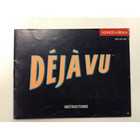 Deja Vu Instruction Booklet - NES