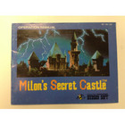 Milon's Secret Castle Instruction Booklet - NES
