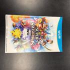 Super Smash Bros for Wii U Instruction Booklet - Wii U