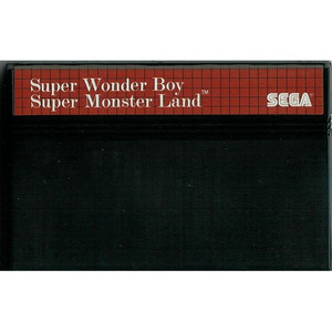 Super Wonder Boy - Super Monster Land - Sega Master System (Cartridge Only, Cartridge Wear, Label Wear)