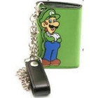 Luigi Die Cut Green  Wallet W Chain Licenced