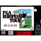 PGA European Tour - SNES - (Box and Book, Cartridge Wear)