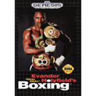 Evander 'Real Deal' Holyfield's Boxing - Sega Genesis (Cartridge Only, Label Wear)