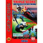 Triple Score 3 Games in 1 - Sega Genesis (Cartridge Only, Label Wear)