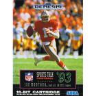 NFL Sports Talk Football '93 Starring Joe Montana - Sega Genesis (With Box, No Book)