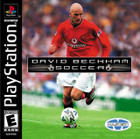 David Beckham Soccer - PS1 (Used, With Book)