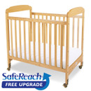 Serenity Compact-Size Fixed-Side Crib Clearview Headboard