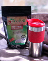 Crio Bru with red bodum travel press