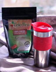 Crio Bru with red bodum travel press